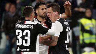 Juventus celebra una anotación frente al Atalanta