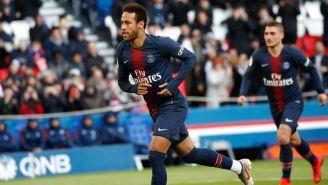 Neymar, durante un duelo con el PSG