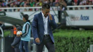 Nacho Ambriz se lamenta en un partido de León