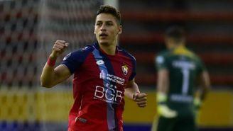 Manuel Balda, nuevo jugador de Atlas, festeja un gol con El Nacional