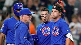 Jugadores de Cubs consuelan a Albert Almora Jr.