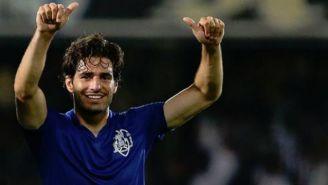 Antonio Briseño celebra un gol con el Feirense
