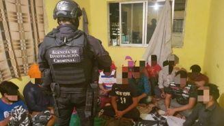 Migrantes rescatados en la Ciudad de México