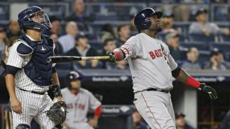 El Big Papi durante un partido con Red Sox