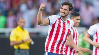 Oswaldo Alanís durante un partido con Chivas