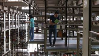 Usuarios en la Biblioteca Vasconcelos