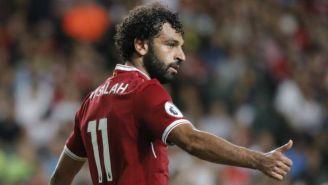 Salah, durante un partido del Liverpool