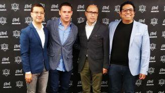 Los dirigentes de Eliot Media y de la Femes, en la presentación de la nueva alianza