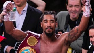 Demetrius Andrade tras ganar una pelea