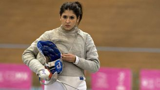 Paola Pliego durante una práctica previo al Festival Deportivo Panamericano 2014