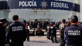 Policía Federal, durante protesta