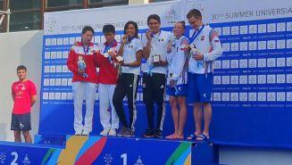 Alejandra Estrella y Diego Balleza, medalla de Oro en la Universiada Mundial