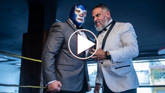 Dr. Wagner Jr. y Blue Demon Jr. en cara a cara