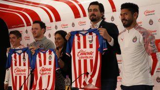 Así fue la presentación del patrocinio del caliente.mx con Chivas