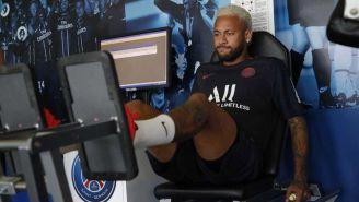 Neymar en las instalaciones del PSG