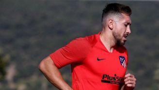 Herrera, en un entrenamiento del Atlético