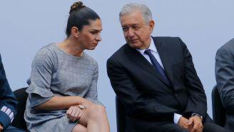 AMLO y Ana Guevara en abanderamiento de la delegación mexicana que irá a los Juegos Panamericanos