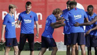 Antoine Griezmann en entrenamiento con Barcelona