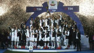 Juventus celebra tras ganar el título de la campaña 2018-19