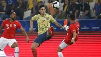 James, durante juego contra Chile en la Copa América 2019