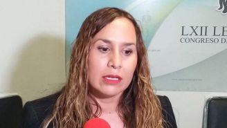 La diputada  Érika Pérez  durante un evento