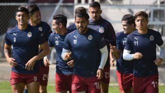 Chivas, durante un entrenamiento de cara al Apertura 2019