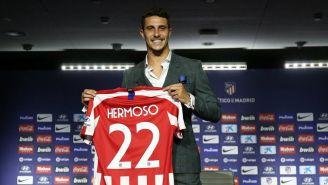 Mario Hermoso, en su presentación con Atlético de Madrid