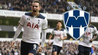 Vincent Janssen celebra un gol con Tottenham