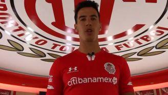 Diego Rigonato luce la camiseta de Toluca