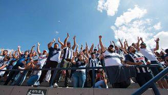 Aficionados del Monterrey en las gradas del estadio Alfonso Lastras
