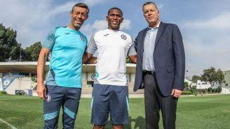 Caixinha, Brayan Angulo y Peláez posan en La Noria