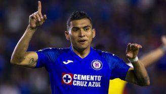 Orbelín Pineda celebrando su anotación de Leagues Cup