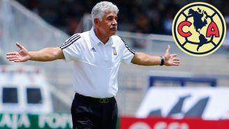 Ferretti reclama durante un partido de Tigres