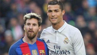 Lionel Messi y Cristiano Ronaldo durante un partido