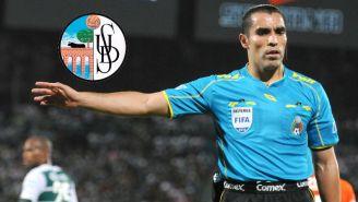 Marco Antonio Rodríguez cuando era árbitro