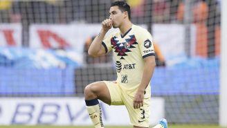 Jorge Sánchez durante un partido del América