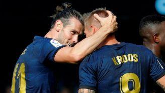 Gareth Bale y Toni Kroos festejan un gol