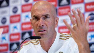 Zidane, durante conferencia de prensa del Real Madrid