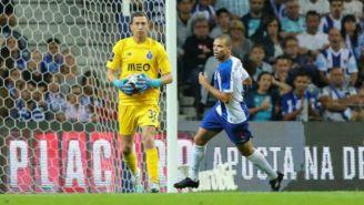Agustín Marchesín en el juego entre Porto y Vitória Setúbal