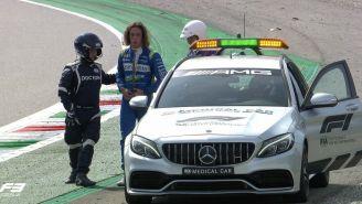 Alex Peroni tras el accidente en Monza