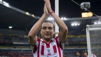 Héctor Reynoso, en un juego de históricos de Chivas y Atlas en 2016