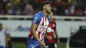 Alexis Vega, en el juego entre Chivas y Atlas de Apertura 2019