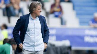 Sergio Egea durante un partido con Real Oviedo