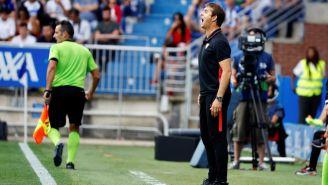 Julen Lopetegui durante el partido del Sevilla ante Alavés