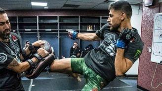 Pantera Rodríguez durante un entrenamiento