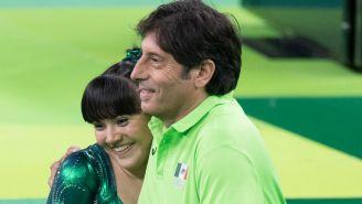 Alexa Moreno con su entrenador