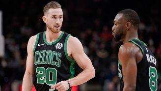 Gordon Hayward en un partido con Celtics