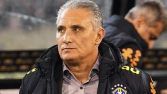 Tite durante un duelo de Brasil en Fecha FIFA
