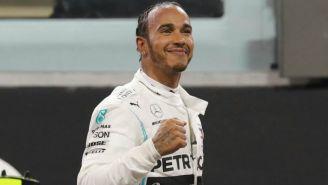 Lewis Hamilton celebrando en una carrera