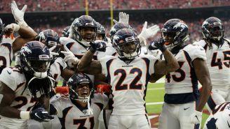 Broncos festejando la victoria
